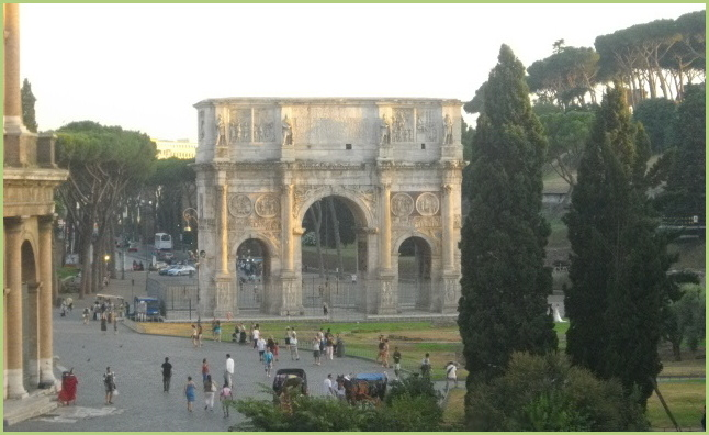 The wealth of Italy - Arch of the Roman Emperor Titus in Rome