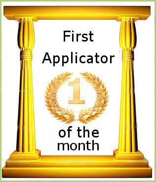 First Applicator of the month
